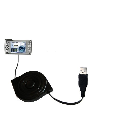 Compact and Retractable USB Power Port Ready Charge Cable Designed for The Mio 269 Plus and uses TipExchange