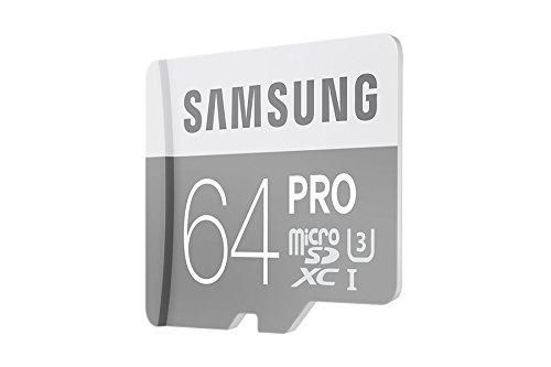 Samsung PRO Plus Micro SDXC 64GB bis zu 90MB/s lesen, bis zu 80MB/s schreiben, Class 10 Speicherkarte (inkl. SD Adapter), grau/weiß