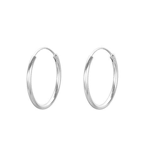 Pernille Corydon Creolen Damen Klein Silbern Ohrringe 925er Sterling Silber 2 cm - E139s