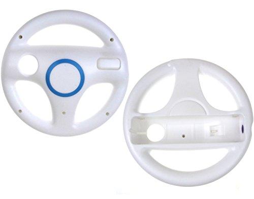 Juego de 2 volantes para Nintendo Wii, color blanco