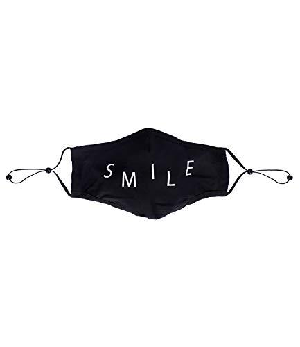 SIX Wiederverwendbare Gesichtsmaske in Schwarz, Draht, verstellbare elastische Bänder, perfekte Passform an Nase und Kinn (623-064)