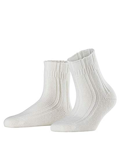 FALKE Damen Socken Bedsock - Angoramischung, 1 Paar, Weiß (Off-White 2049), Größe: 35-38