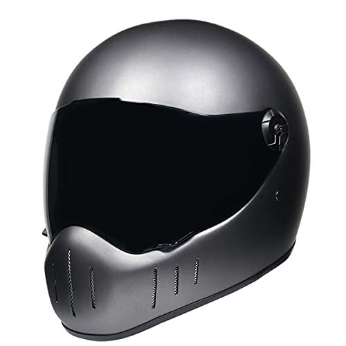 Casco de moto integral casco casco casco vintage retro Capacete De Motocicleta a4 L