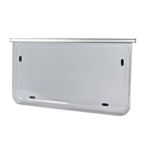 NRF Wohnwagen Seitenfenster Diverse Größen | Kederbefestigung | inkl Aussteller | Anthrazit (70x50cm)