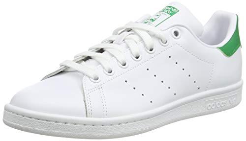 adidas Stan Smith, Baskets Homme, FTWR White/Core White/Green, 42.5 EU