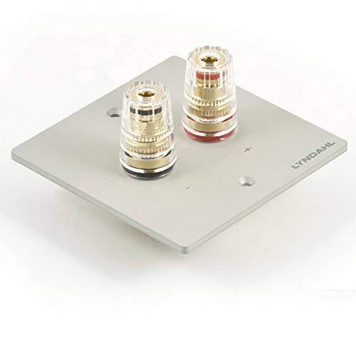 Lyndahl Highend Lautsprecherblende LKL001, LKL002, LKL005 und LKL007 für Lautsprecher, passend für Unterputzdose/Wandeinbaudose Wandanschlussblenden Surround System Silber 1-Fach