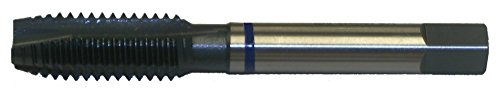 Cleveland C50041 HSS-E 1/4-20 UNC Plug Chamfer HP Spiral Point Tap for Stainless Steel , Straight Flute , Straight w/ Square Shank , Steam Oxide Finish (Pack qty. 1)