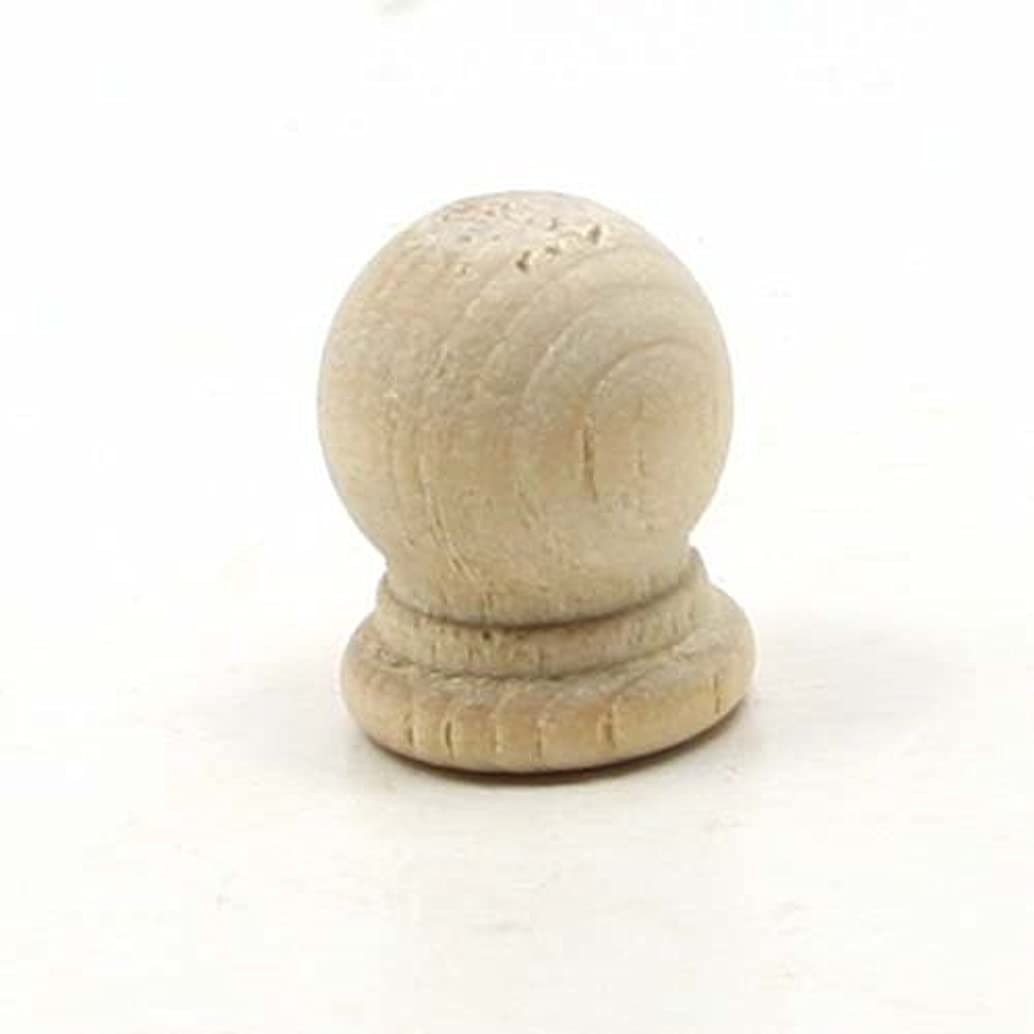 Mylittlewoodshop Pkg of 25 - Finial Dowel Cap - 3/4 inches tall with 1/4 inch hole unfinished wood (WW-DC8052-26)