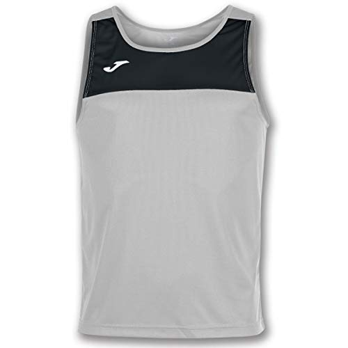 Joma Race Camisetas Caballero, Hombre, Melange/Negro, M