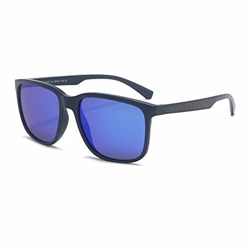 Gafas de sol para hombre con marco cuadrado retro, deportes al aire libre, gafas de sol para montar, gafas de sol para mujer, gafas polarizadas tr90 con protección UV400 MTS2