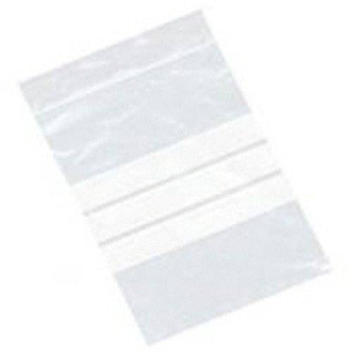 1000 Grand 25,4 x 35,6 cm/250 x 350 mm en plastique transparent refermable Polyéthylène Gripseal Sacs avec grip d'écriture sur panneaux – Press Seal Lock Pochettes de rangement d'emballage blanc bandes d'étiquetage