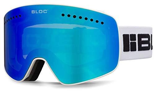 Bloc Fifty Five G550 Masque de Ski magnétique 2 Verres interchangeables Blanc Mat