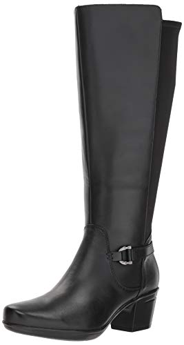 Clarks Mujeres Botas, Black Leather, Talla 8