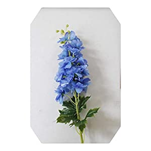 Dreamture 80CM Delphinium Hyacinth Artificial Flowers Continental PU Flowers Wedding Simulation Flower Home Decoration