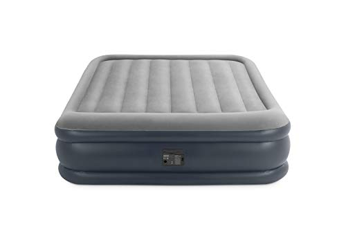 Intex Unisex Outdoor Queen Deluxe Pillow Rest Air Bed available in Grey/Blue - Size 152 cm X 203 cm X 42 cm