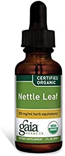 Gaia Herbs Nettle Leaf, Liquid Supplement, 1 Ounce (Pack of 2) - Upper Respiratory and Inflammatory Support, USDA Organic Stinging Nettle Extract