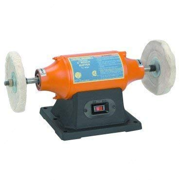 6 inch Benchtop Buffer Heavy Duty 1/2 HP; Includes two