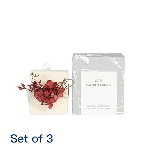 CBVG Juego de 3 Velas perfumadas de cumpleaños con diseño de Cubo cilíndrico, Juego de 3