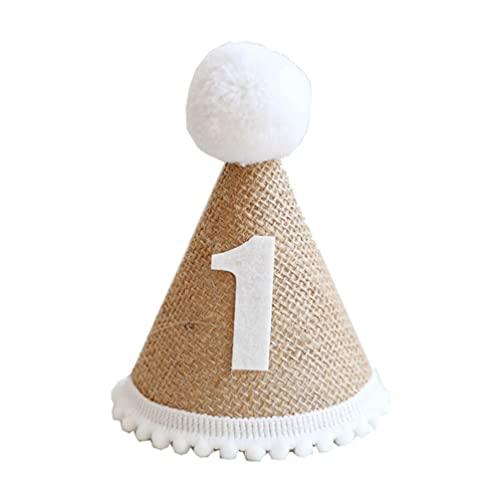 ifundom Niños Cumpleaños Cono Hat 1Er Cumpleaños Sombrero Ropa de Cama Cumpleaños para Niños Fiesta de Cumpleaños Photo Prop