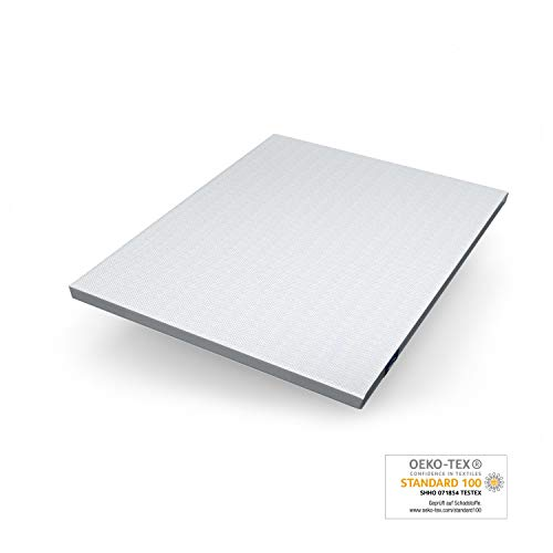 Genius Eazzzy Topper (160 x 200 x 7 cm) als Matratzenauflage für Matratzen & Boxspringbetten | Viskoelastischer Matratzentopper für Allergiker (weitere n erhältlich)