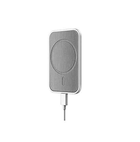 YONGYAO F6 15W Succión Magnética Coche Soporte de Cargador Soporte de Energía de Carga Rápida Inalámbrico Soporte de Marco de Ventilación para Iphone12 - Blanco