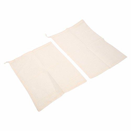 Genérico 30 x 20 cm: 2 bolsas para colar hierbas, infusor de hierbas, bolsa de garni para especias con cordón