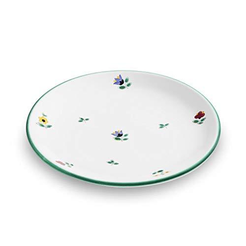 GMUNDNER KERAMIK Dessertteller Cup Durchmesser : 20 cm Streublume Geschirr, handgemacht in Österreich