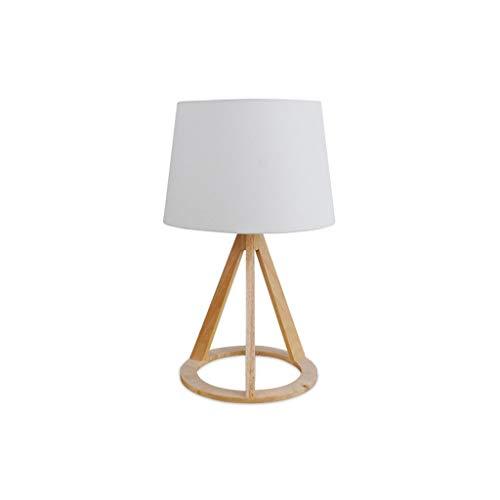YLCJ massief houten tafellamp van massief hout minimalistisch tafellamp slaapkamer hout met linnen tapijt voor thuis commode huis slaapkamer decoratie voor