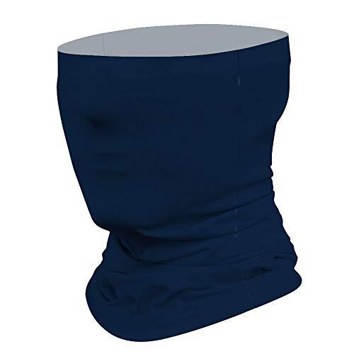 Donkerblauw Multifunctioneel Gezichtsmasker Bandana Neck Gaiter Hoofdband Zon Masker Gezicht Sjaal Balaclava, Voor Outdoor Sport,Voor Vrouwen Mannen