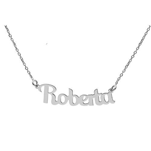 Collana con Nome in Argento (Roberta)