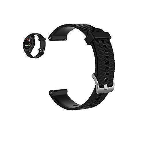 Bemodst Armband für Garmin Vivoactive 3 Watch, Silikon Handgelenk Uhrenarmbänder Fitness Sport Ersatz Uhrband Wechselarmbänder für Garmin Vivoactive 3 Smartwatch (Schwarz)