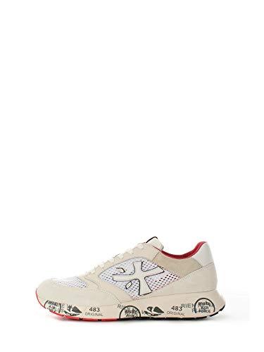 Sneakers Hombres PREMIATA Zac Zac 5236 Cuero Tejido Blanco