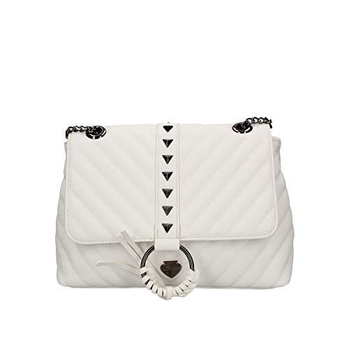 Le Pandorine Borsa a Spalla Vicky Small Canvas Colore Bianco PE20DAV02501