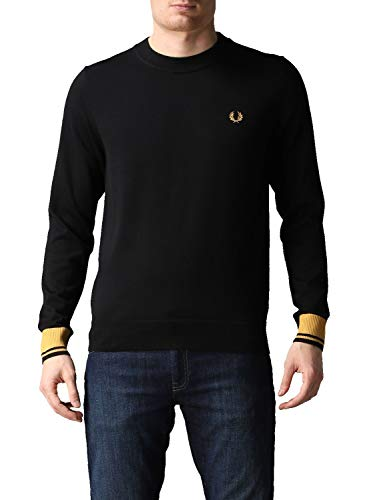 Fred Perry Abstract Tipped Crew Neck Jumper, Suéter