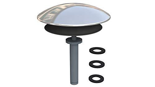 Siphonly® Universal Badewannenstöpsel mit Push-Open Funktion | Abfluss-Stopfen Chrom aus massivem Messing | Ablaufgarnitur für jede Badewanne - kann auch nachträglich eingebaut werden