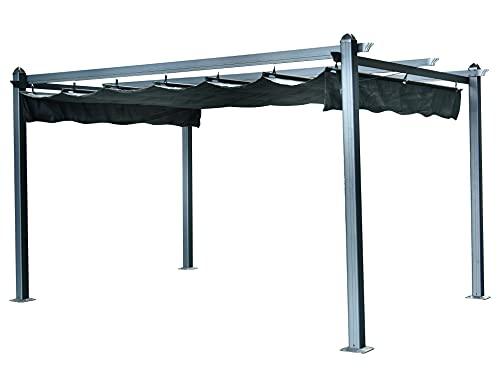 ITALFROM Gazebo Pergola in Alluminio con Telo Retrattile cm. 400x300 da Esterno o da Giardino
