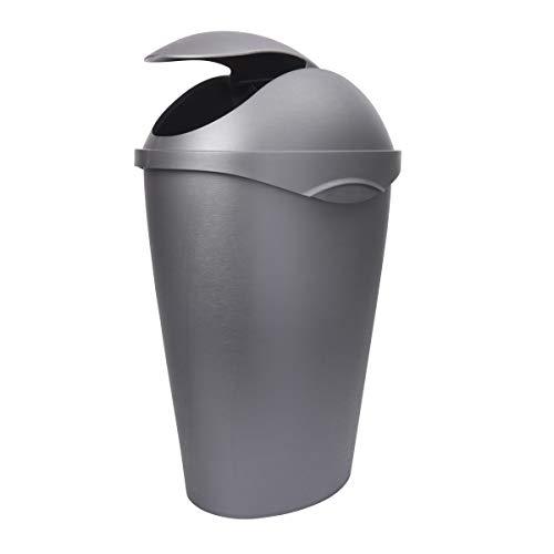 Umbra 086300-410 , Nickel Swinger 12-Gallon Swing-Top Waste Can
