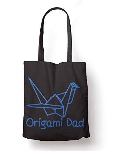 BLAK TEE Origami DadOrganic Cotton Reusable Shopping Bag Black