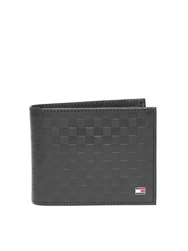Tommy Hilfiger Castell Black Leather Men's Wallet (8903496134100)
