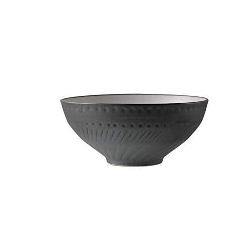 ZHDWM Ciotola, Utensili per La Dieta, Posate, Ciotola in Ceramica, Zuppiera retrò, Macedonia, Piastra per Mescolare Ciotola (Color : Grey)