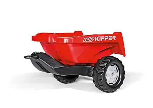 Rolly Toys rollyKipper II für Kinderfahrzeuge (rot, für Kinder von 2,5 - 10 Jahre, Einachsanhänger, mit Kippfunktion) 128815