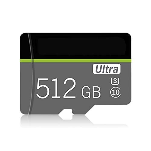 Scheda micro SD da 512 GB con adattatore per scheda SD, scheda di memoria TF classe 10 Scheda di memoria ad alta velocità per smartphone, fotocamera, PC, Mac