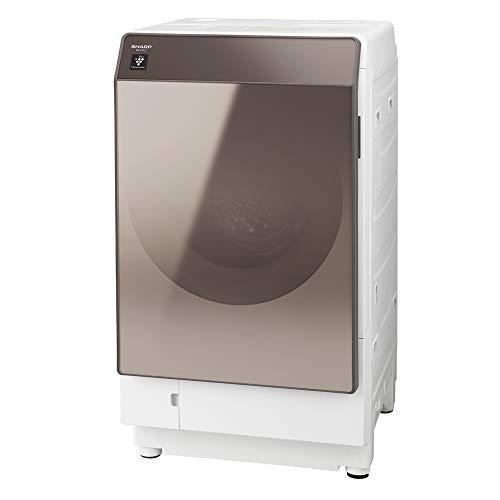 シャープ 洗濯機 ドラム式洗濯機 ヒートポンプ乾燥 左開き(ヒンジ左) DDインバーター搭載 ブラウン系 洗濯11kg/乾燥6kg 幅640mm 奥行728mm ES-G112-TL