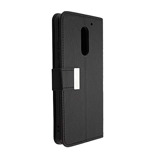 Casco para UMI Super, Bookstyle-Case Funda Protectora a Prueba de Golpes para Smartphone (Carcasa de Color Negro)