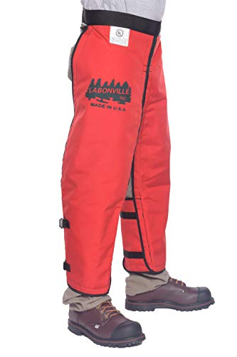 LABONVILLE Full Wrap Chainsaw Chaps - Overall Length 32