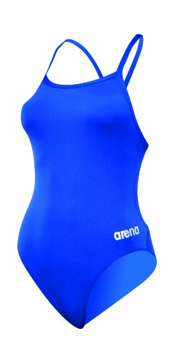 ARENA Damen Mast Light Tech Back MaxLife One Piece Swimsuit Einteiliger Badeanzug, Royal-Metallic Silber, 28