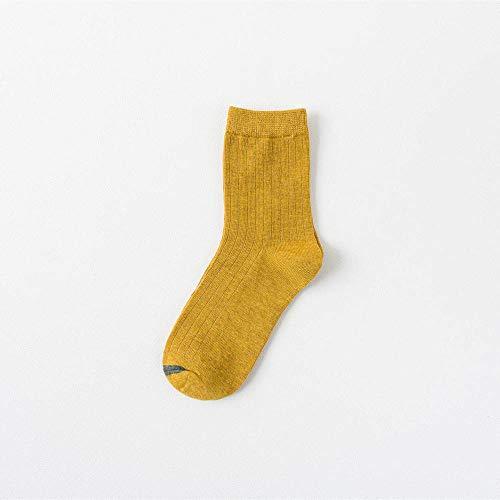 ROUNDER New socks warm men's socks women's cotton socks, pure cotton lovers 5 pairs of women's socks-Turmeric bars