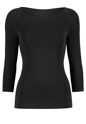 Wolford Damen 56172 T-Shirt Langarm.7005 Black,Medium (M)