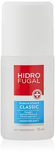 Hidrofugal Classic Zerstäuber, Anti-Transpirant mit dezentem Duft und antibakteriellem Schutz, hochwirksamer Deo Zerstäuber schützt gegen Schweiß, 55 ml