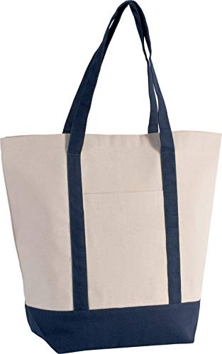 Kimood Sac cabas marin - Natural/Navy, One Size, Homme
